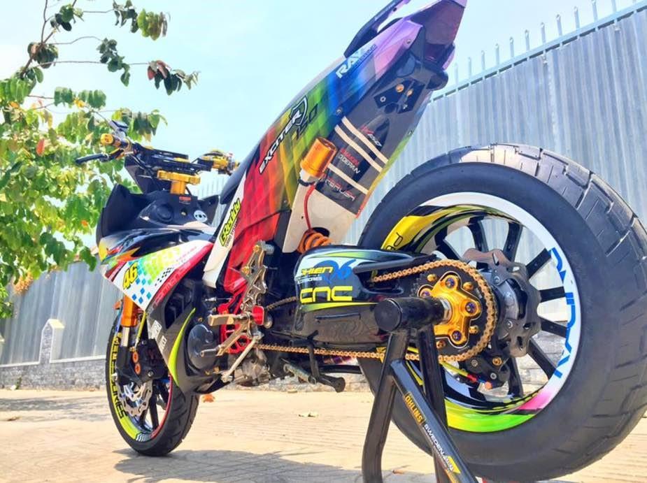 Exciter độ gắp đơn Ducati 1198 cực chất