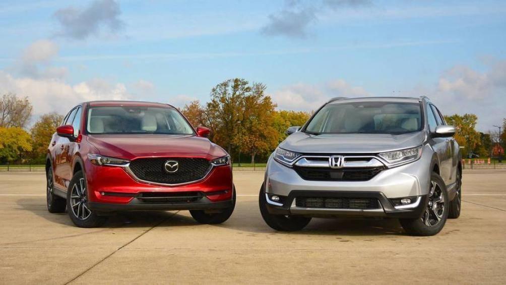 So sánh Mazda CX5 2019 với Honda CR-V 2019 về đầu xe