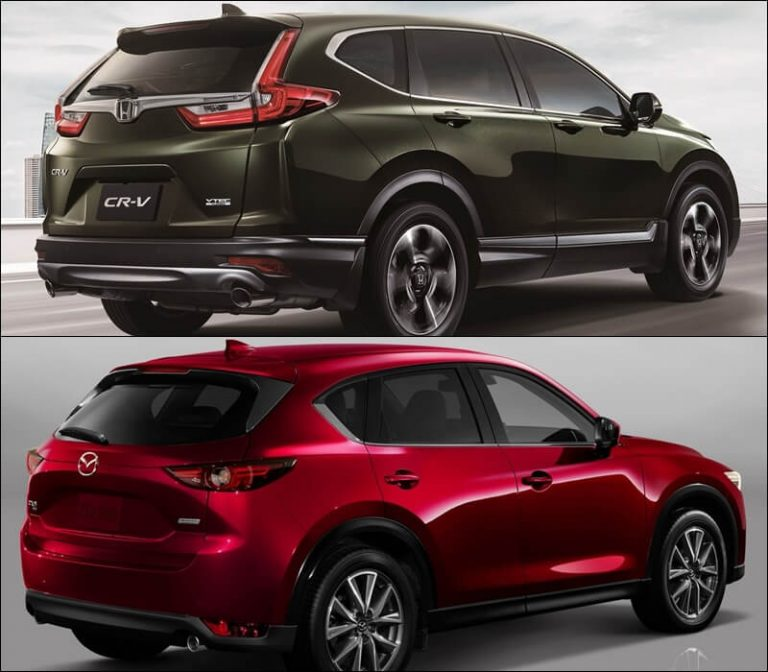 So sánh Mazda CX5 2019 với Honda CR-V 2019 về đuôi xe