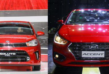 So sánh xe Kia Soluto 2019 và Hyundai Accent 2019