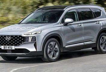 Lộ diện ngoại hình Hyundai SantaFe 2021 trên đường chạy thử